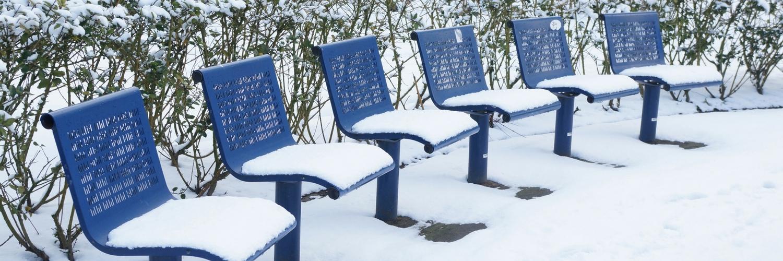 stoeltjes, stoelen, sneeuw, blauw, park, transwijk, utrecht, winter, fotografie, patronen
