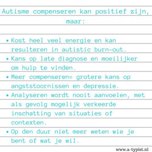 De negatieve gevolgen van autisme compenseren en camoufleren