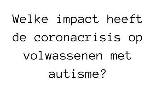 Header bij nieuwsbericht over onderzoek naar corona en autisme