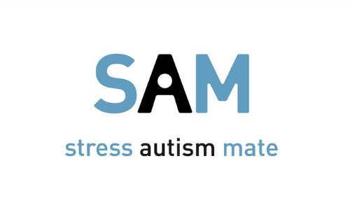 Header bij nieuwsbericht over stress autism mate met het logo van de app erop