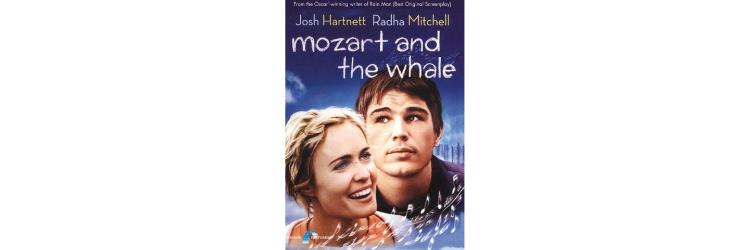 Voorkant van de dvd van de film Mozart and the Whale